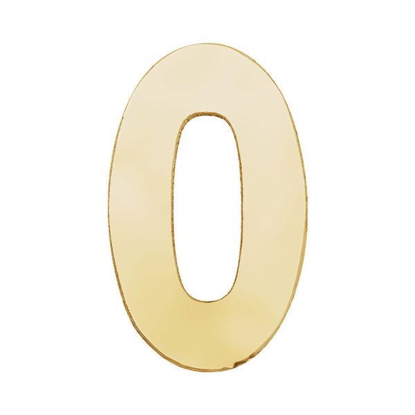 "14k Yellow Gold Number ""0"""