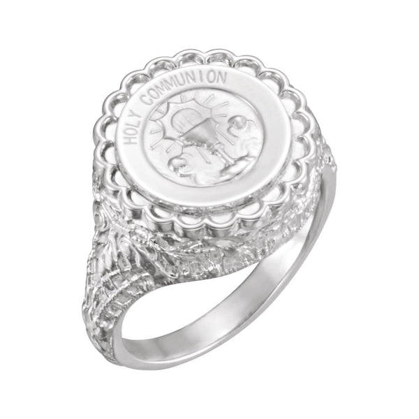 Sterling Silver Holy Communion Ring, Size 6