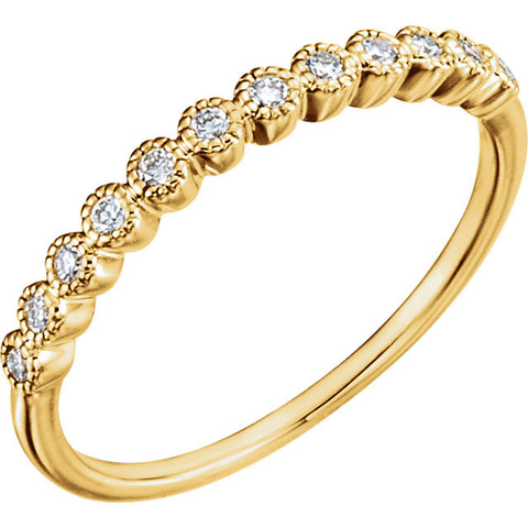 1/6 CTTW SI1-2, H-I Diamond Anniversary Band in 14K Yellow Gold ( Size 6 )