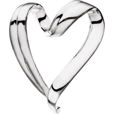 Heart Chain Slide in Sterling Silver
