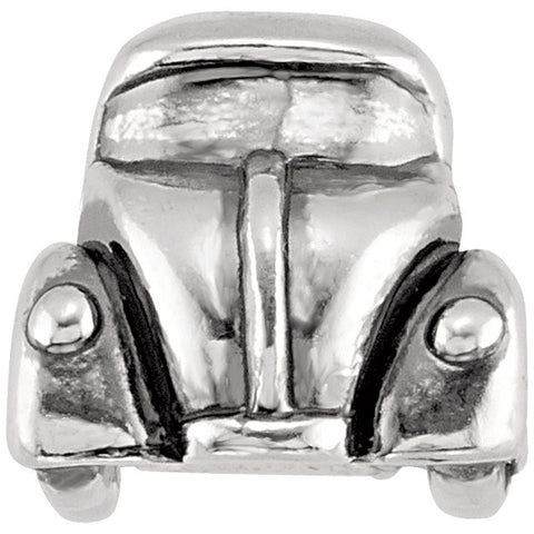 Sterling Silver 15x10.75mm Beadle Bug Car Bead