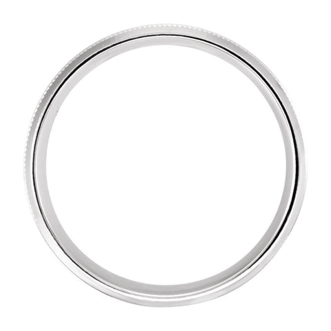 10k White Gold 8mm Lightweight Beveled Band Size 10