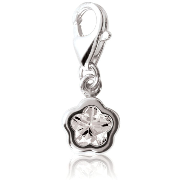 Sterling Silver BFlower™ CZ Charm
