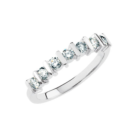 1/2 CTTW Diamond Anniversary Band in Platinum (Size 6 )