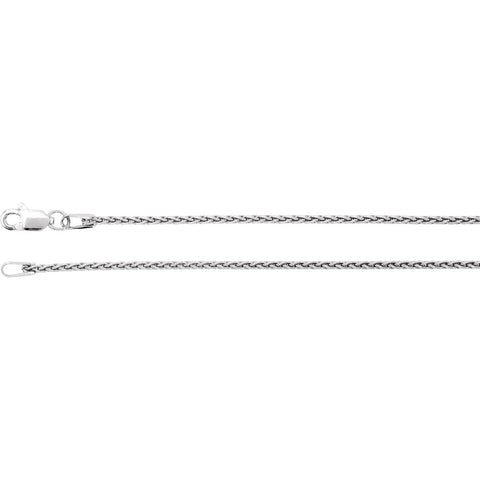 1.28 mm Wheat Chain in 14k White Gold ( 18.00-Inch )