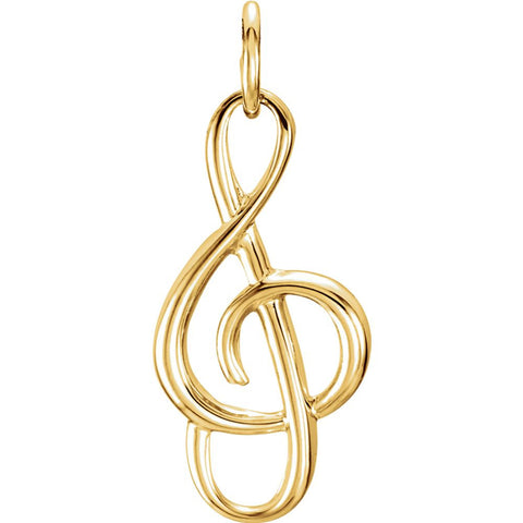 20x10 mm Musical Note Charm in 14K Yellow Gold