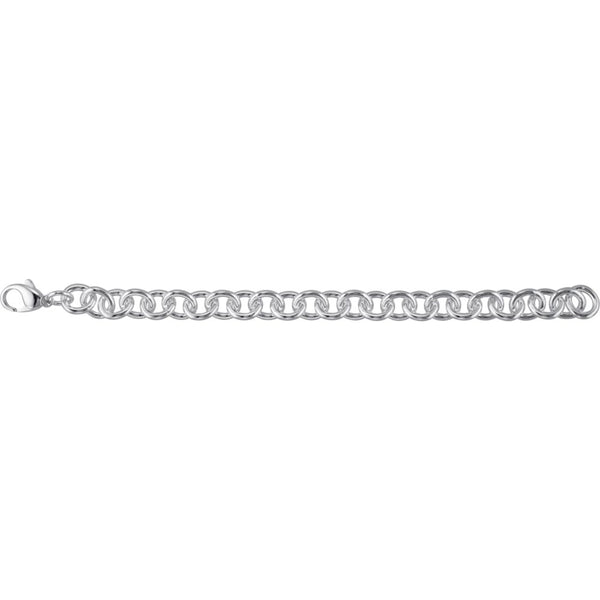 "Sterling Silver 10mm Cable 7.5"" Bracelet"