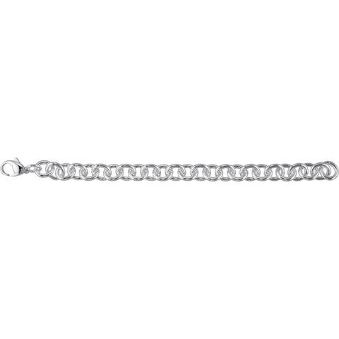 10 mm Cable Bracelet in Sterling Silver ( 7.5-Inch )