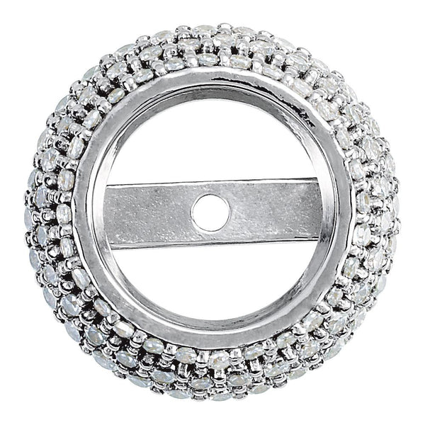 14k White Gold .36 CTW Diamond Pre-set Halo-Style Trim