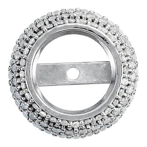 14K White Gold 0.36 CTW Diamond Halo-Styled Trim