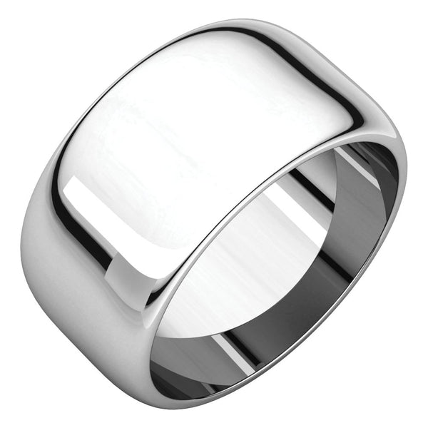 Sterling Silver 10mm Half Round Band, Size 6