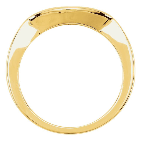 10k Yellow Gold 6.5mm Band, Size 6