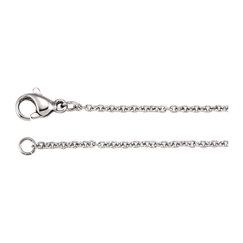 Stainless Steel Anchor Link Chain with Lobster Clasp ( 18.00-Inch )