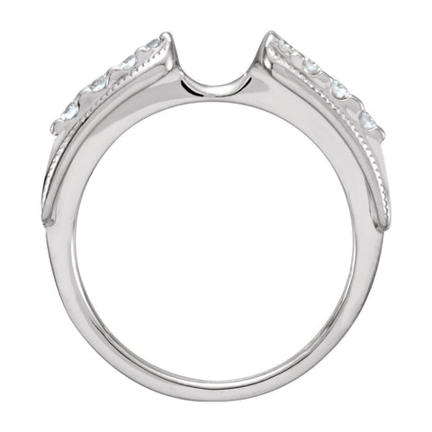 14k White Gold 1/4 CTW Diamond Enhancer, Size 6