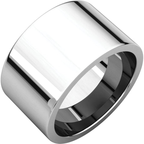 Flat Comfort-Fit Wedding Band Ring in Sterling Silver ( Size 7 )