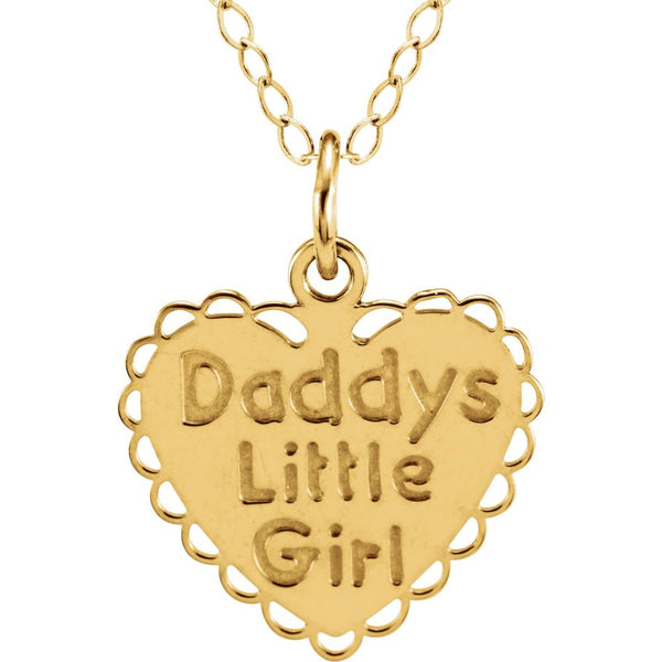 "14k Yellow Gold ""Daddy's Little Girl"" 15"" Necklace"