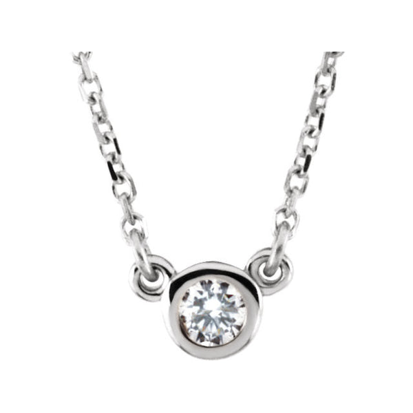 "14k White Gold 1/4 CTW Diamond 18"" Necklace"