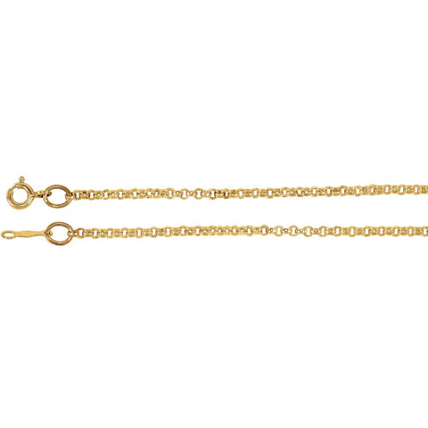 Rolo Chain with Spring Ring in 14k Yellow Gold ( 24 Inch )