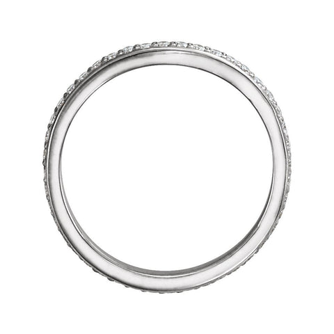 Platinum 3/8 CTW Diamond Eternity Band , Size 7
