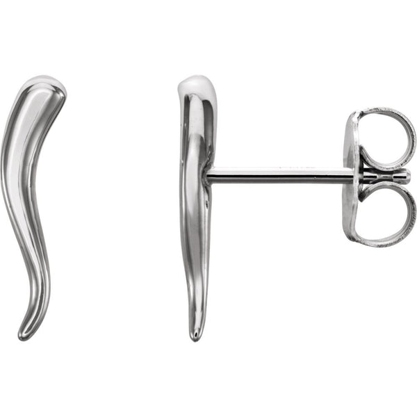 Sterling Silver Horn Earrings