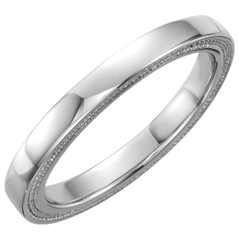 14k White Gold Band, Size 8