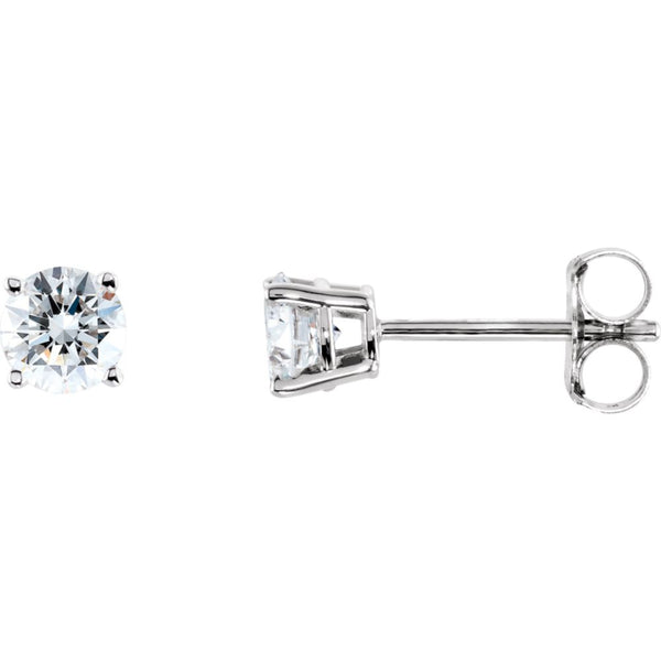 14k White Gold 1/2 CTW Diamond Earrings