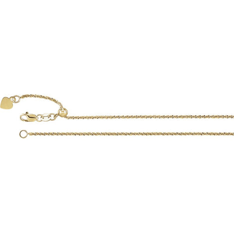 Adjustable Fashion Chain 1.4mm in 14k Yellow Gold (22 inch)