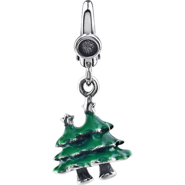 Sterling Silver Christmas Trees Charm