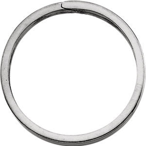 31.75mm Sterling Silver Round Split Key Ring