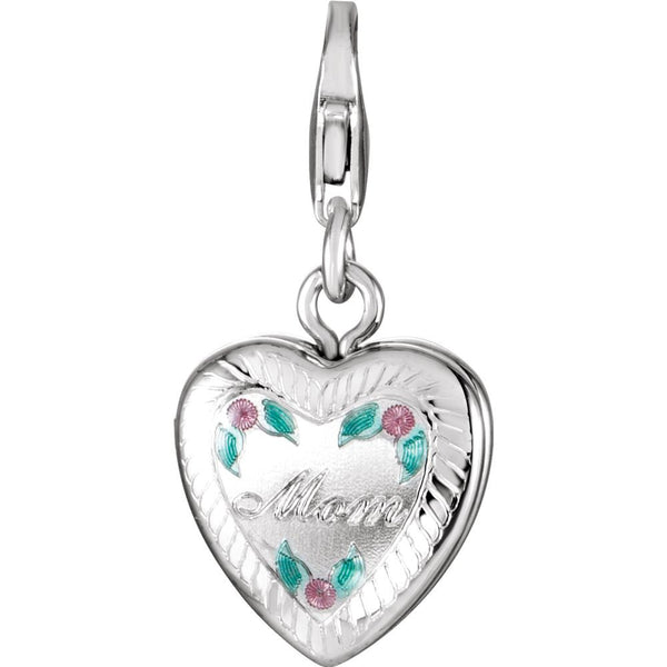 Sterling Silver Mom Locket Charm