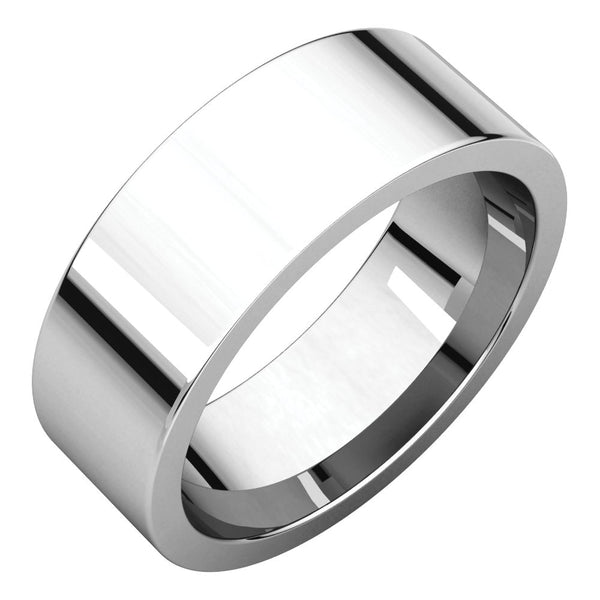 Sterling Silver 7mm Flat Band, Size 7