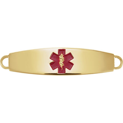 Engravable Medical I.D. Plate in 14k Yellow Gold