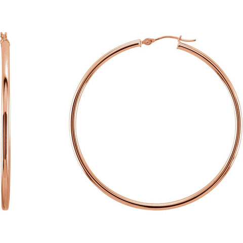 14k Rose Gold 48mm Hoop Earrings