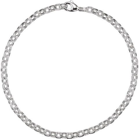 6.75 mm Flat Cable Chain in Sterling Silver ( 18-Inch )