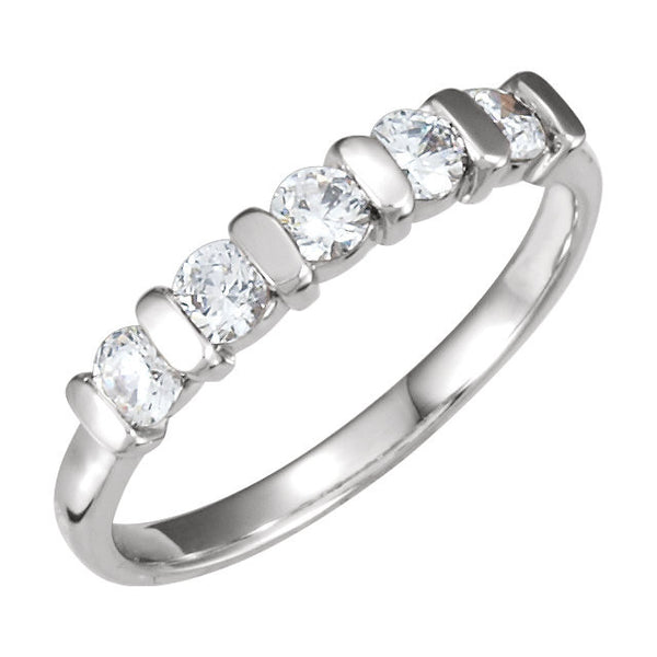 Platinum 1/2 CTW Diamond Band , Size 6