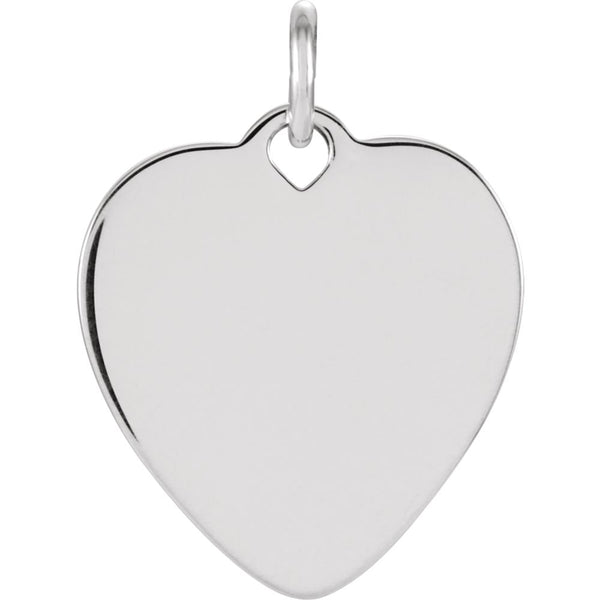 Sterling Silver 9.75mm Heart Charm Only