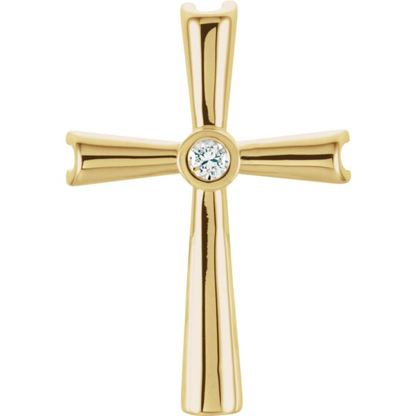 14k Yellow Gold Cross Pendant Mounting