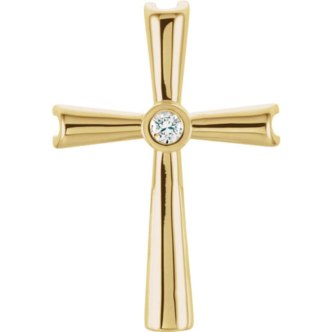 21.00X14.00 mm Cross Pendant Mounting in 14k Yellow Gold