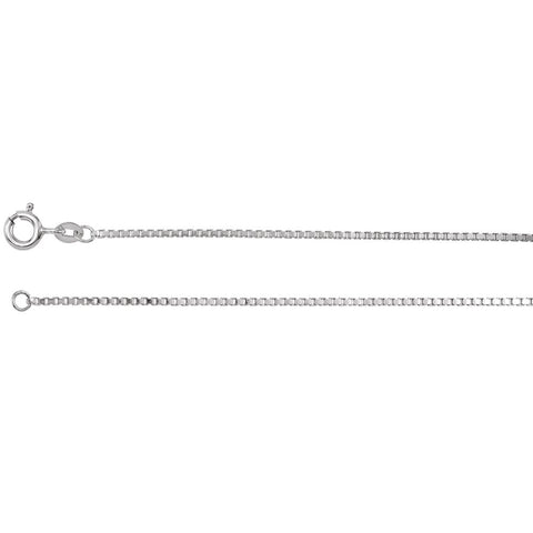 Solid Diamond Cut Box Chain in Sterling Silver ( 16 Inch )