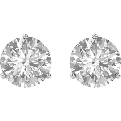 14k White Gold 4mm Round Forever Brilliant® Moissanite Earrings