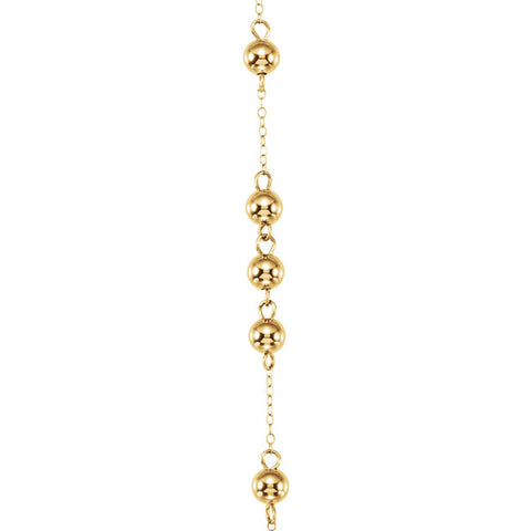 14k Yellow Gold Bead Rosary
