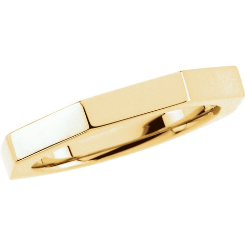 18k Yellow Gold 3.75mm Octagon Band Size 5