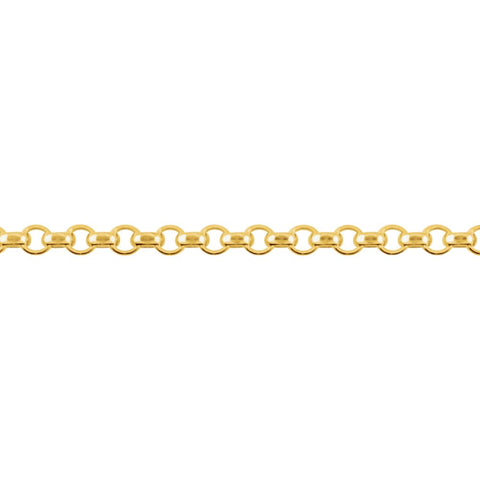 "14k Yellow Gold 2mm Rolo 16"" Chain"