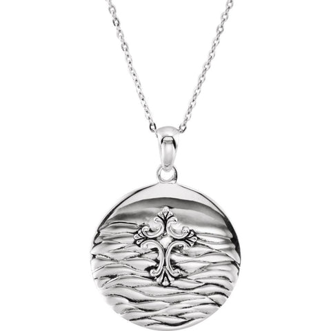 Water Baptism Necklace in Sterling Silver