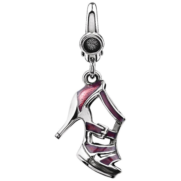 Sterling Silver High Heel Enameled Charm