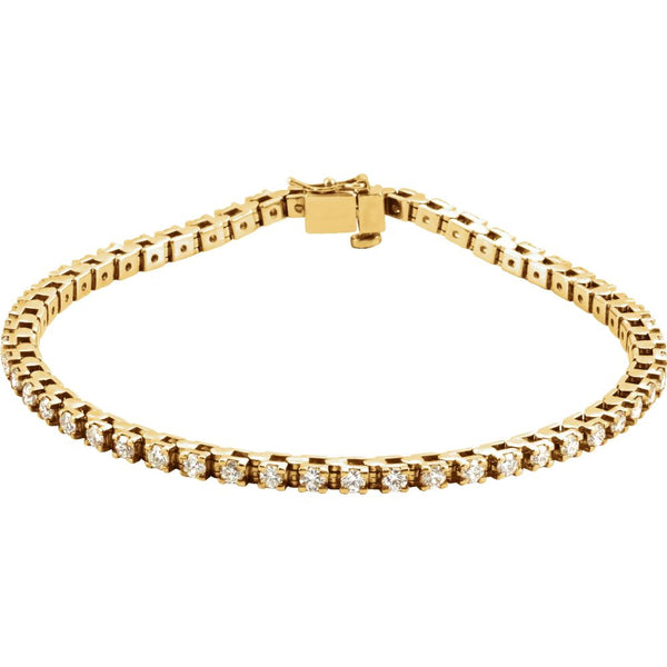 14k Yellow Gold 2 1/8 CTW Diamond Line Bracelet