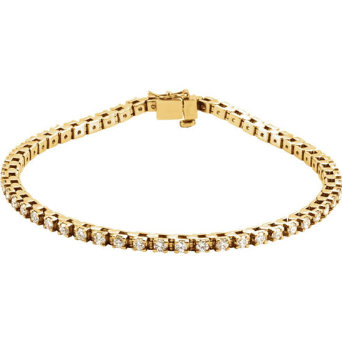 2 1/8 CTTW Diamond Tennis Bracelet in 14k Yellow Gold