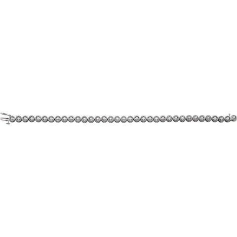 "14k White Gold 1 CTW Diamond 7"" Bracelet"