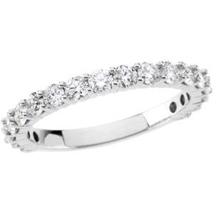 14k White Gold 1 CTW Diamond Band, Size 7