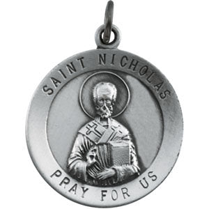 Sterling Silver 18.25mm St. Nicholas Medal